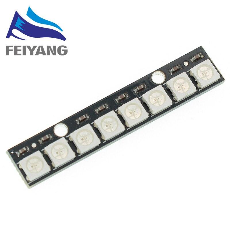 Luces LED RGB de 8 canales WS2812 5050, placa de desarrollo integrada a todo color