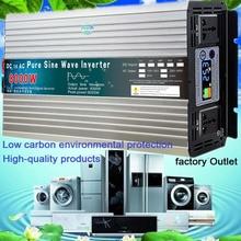 Czysta fala sinusoidalna inwerter 12V/24V/48V/60V do 110V 220V 6000W 8000W transformator napięcia konwerter czysta fala sinusoidalna moc słoneczna