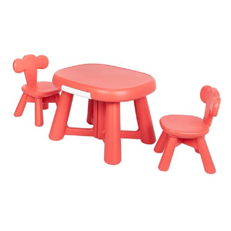 Kids Table And 2 Chair Set Childrens Plastic Kids Toddlers Childs Gift For Boys And Girls Brand New