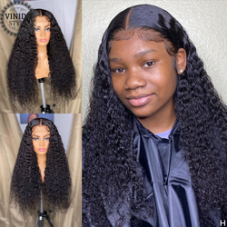 VINIDA STYLE Curly 13×6 Lace Front Human Hair Wigs Scalp Top Closure Wigs 150% Density With Baby Hair Non-Remy