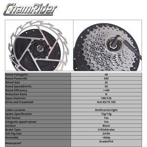 Image 2 - 48V 500W Direct Drive Gearless Hub Motor E bike Motor Front Motor Rear Cassette Motor Optional MXUS Brand XF39 XF40 freehub