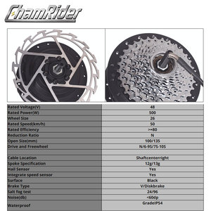 Image 2 - 48V 500W Trực Tiếp Ổ Gearless Hub Động Cơ E Xe Đạp Xe Máy Trước Động Cơ Phía Sau Cassette Động Cơ Tùy Chọn MXUS thương Hiệu XF39 XF40 Freehub