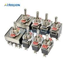 Мини автоматический переключатель переменного тока 250V 16A 2/3/4/6/12-контактный ВКЛ-ВЫКЛ-на 2/3 позиции Медь/серебряный контакт с Водонепроницаемый Кепки
