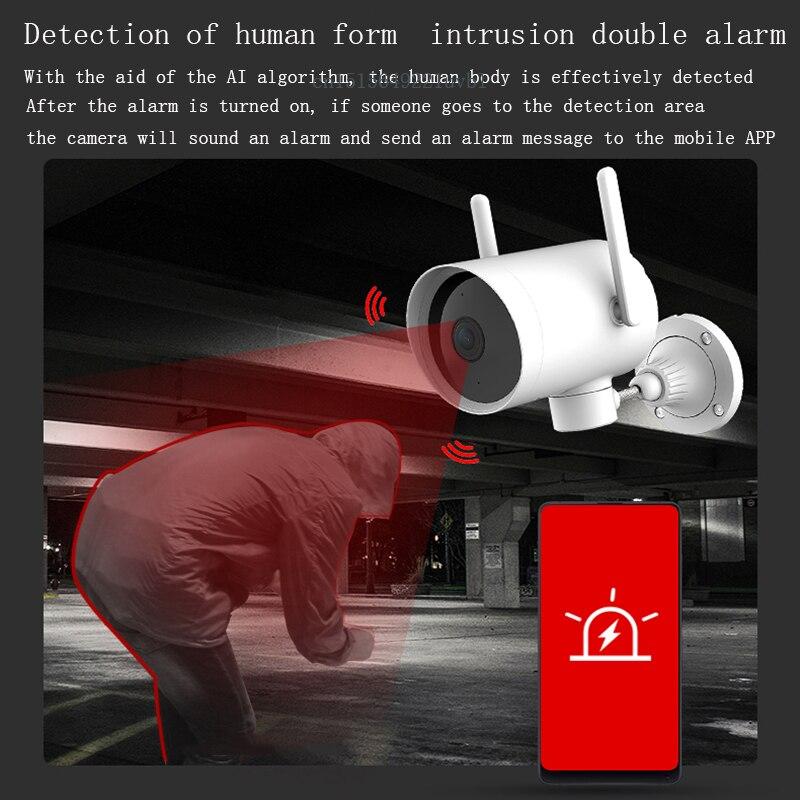 Original Smart Outdoor Camera Waterproof AI Humanoid Detection Webcam 270 1080P WIFI H.265 Night Vision Voice Call Alarm IP Cam