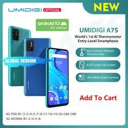 Полноэкранный мобильный телефон UMIDIGI A7S, 6,53 дюйма, 20:9, 32 ГБ, 4150 мАч, тройная камера, инфракрасный датчик температуры, Type C, предварительная прод...