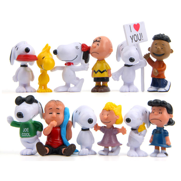 12-2 Generation Peanut Cartoon Snoopy Garage Kit DIY Versatile Horticulture Micro Landscape Succulent Landscaping Doll Ornaments