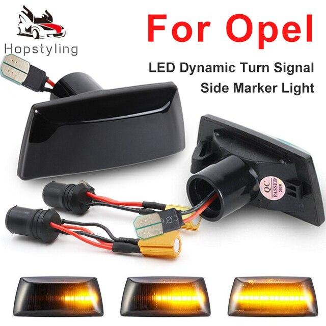 2x Led Dynamic Side Marker Turn Signal Light Sequential Blinker For Opel Astra H Adam Corsa D E Cascada Insignia A Meriva Zafira