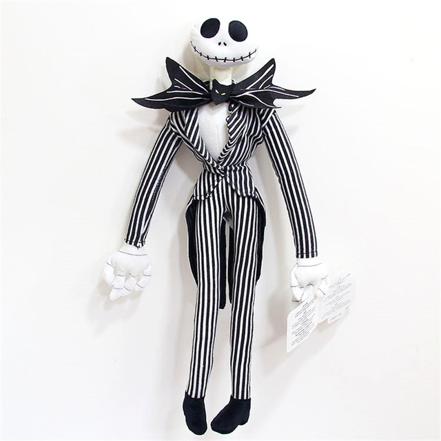 50cm Before  The Nightmare Bendable Jack Skellington Plush Doll Toy Stuffed Kids Toys For Boys Children Gifts