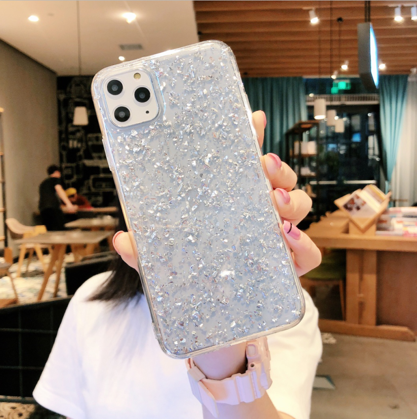 Silicone Bling Glitter Crystal Sequins Hard shell Phone Case For iPhone 11 Pro Max 6 6S 7 8 Plus X XR XS Max Protective Case