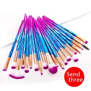 20 pcs makeup tools brushes sets foundation brush eyeshadow brush eyebrow brush makeup brushes set professional brush holder