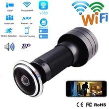 Door Eye Hole V380 Security 1080P HD 1.78mm Lens Wide Angle FishEye CCTV Network Mini Peephole Door WifI iP Camera P2P TF Card