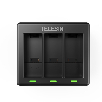 Telesin 3 Ways Battery Charger Led Light Usb Go Pro 9 Batteries Charging Box For Gopro Hero 9 Black Action Camera Accessories