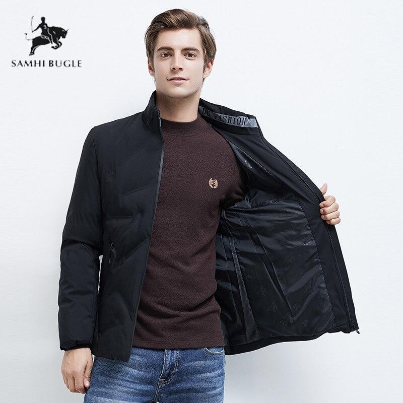 2019 hiver nouveau décontracté épais coton fermeture éclair poches Parkas veste hommes mode Outwear coupe-vent chaud col montant Parka manteau hommes