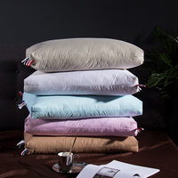 White Goose Down Pillows for Sleeping Soft and Breathable 100% Cotton Downproof Pillow Cover Include 2Pcs Pillows 48X74cm
