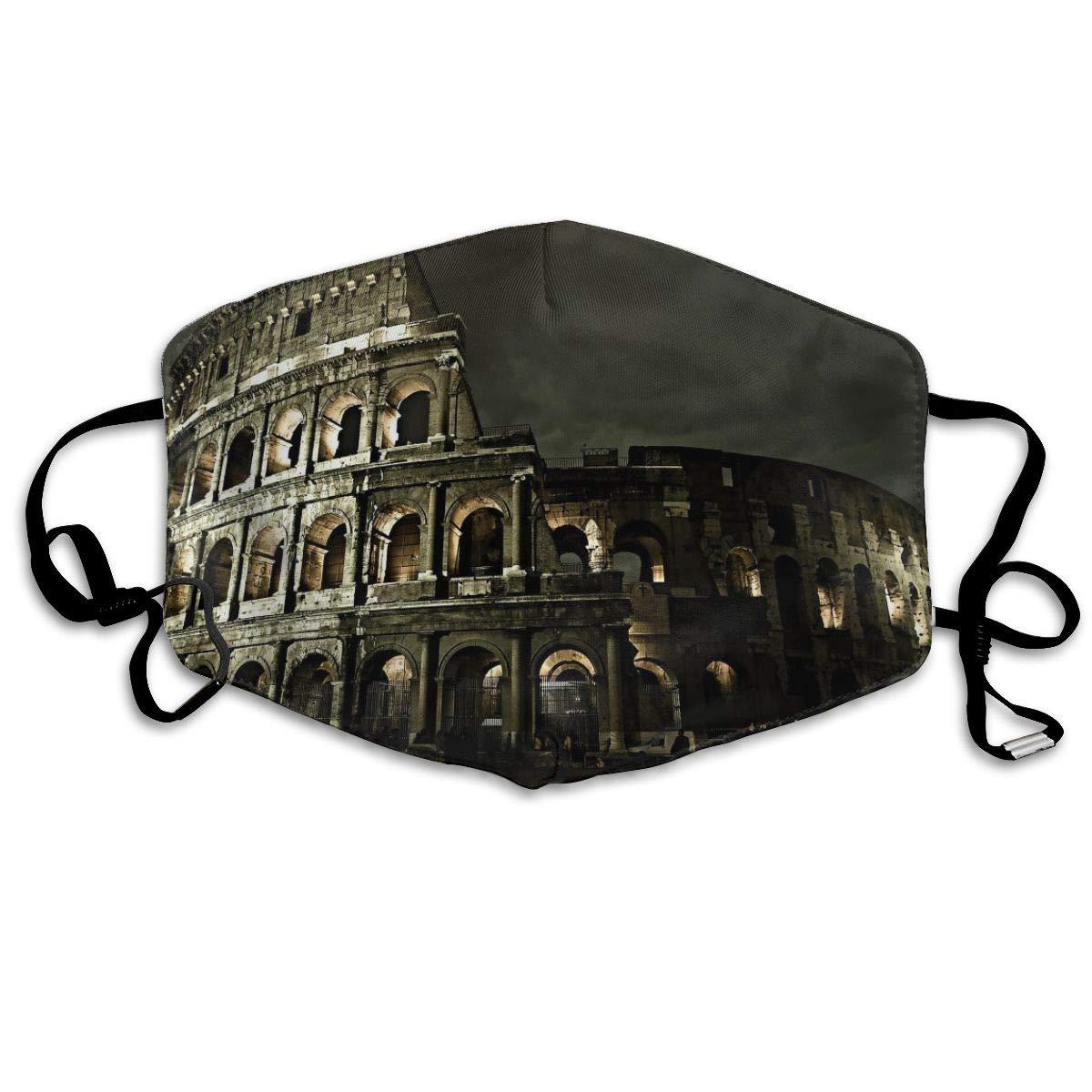 Rome Competitive Pagoda Anti Dust Half Face Mouth Mask, Unisex Cotton Warm Fashion Adjustable Washable   Mask