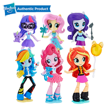 Hasbro My Little Pony Equestria Girls 4.5-Inch 11cm Twilight Mini-Dolls Character Action Figure Collection Model Doll For Girl кукла my little pony equestria girls е0665