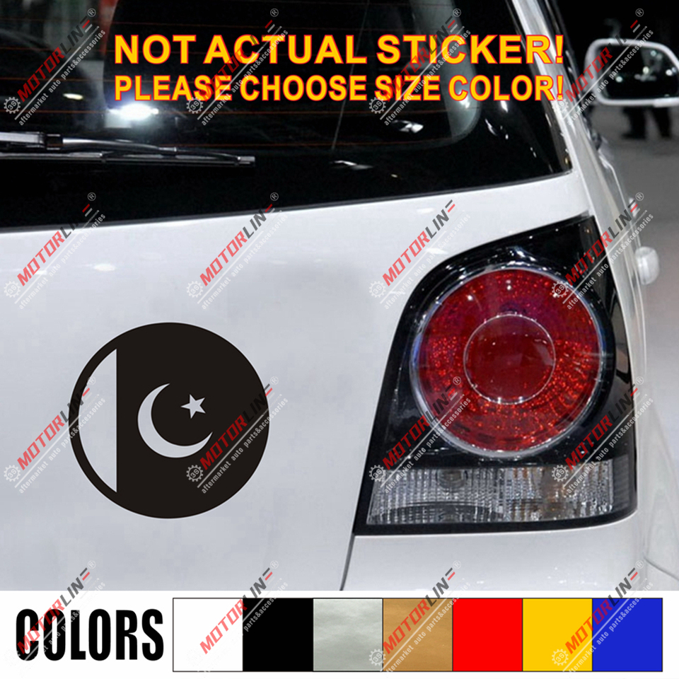 Decal Sticker Flag Exterior Vinyl Car Motorbike Pakistan Pakistani