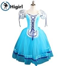 Blue giselle ballet tutu dress blue professional tutus brown ballerina kids pink Romantic dressBT8904B