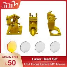 K40 serie: CO2 Laser Kopf Set Laser Stecher für 2030 4060 K40 Laser Gravur Schneiden Maschine
