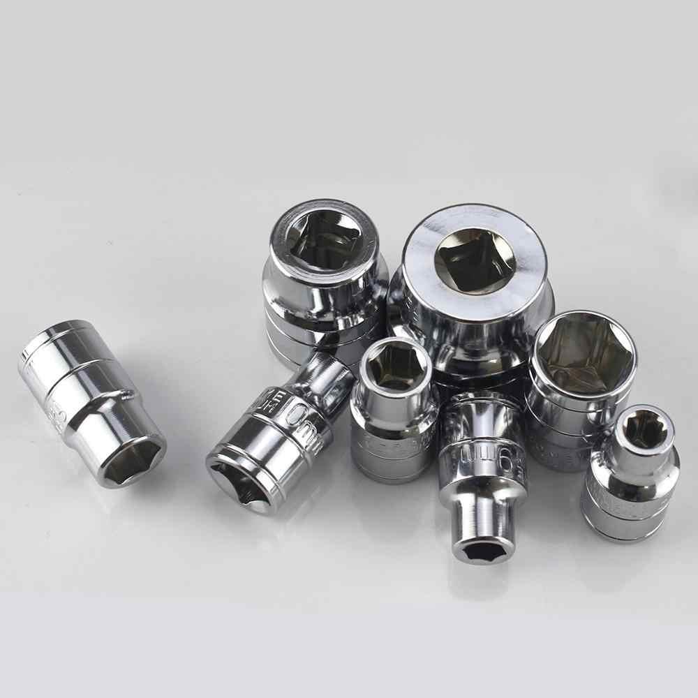 """8 ~ 32 مللي متر القياسية المقبس 1/2 """"بوصة محرك حجم ملليمتر متري نظام الكروم الانتهاء Cr-V الصلب"""