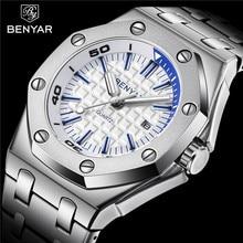 цена на New BENYAR Fashion Men Watches Male 2019 Top Brand Luxury Quartz Watch Men Casual Waterproof Sports WristWatch Relogio Masculino