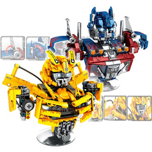 Kids Toys Bricks-Set Building-Blocks Robot Bumblebee Ideas Transformationer Optimus Models