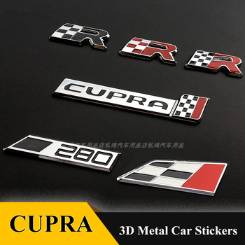 1pcs Car Styling Metal 280 Number Cupra Emblem Badge Grill Grille Stickers For FIAT Palio Weekend Siena Perla 500C
