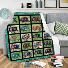 Плюшевое Флисовое одеяло с 3d принтом для взрослых дома офиса