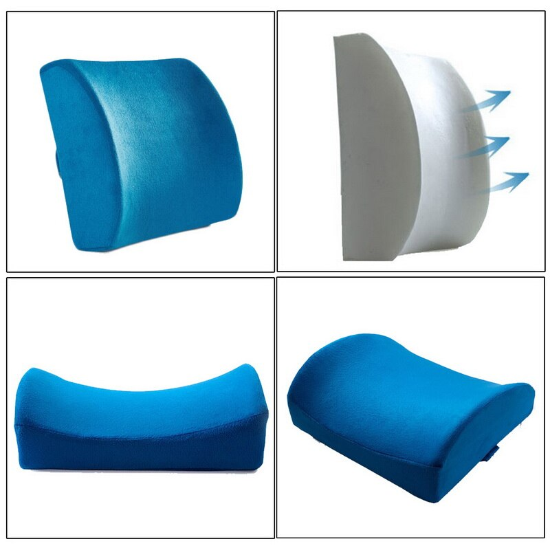 Soft Memory Foam Lumbar Support Back Massager Waist Cushion Pillow For Chairs In The Car Seat Pillows Relieve Pain