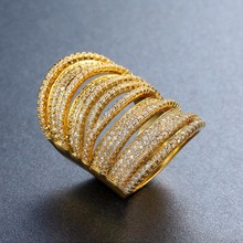 Diamond ring ladies rings pomelo White zircon Topaz rose gold ring Men's accessories gem Stone crystal moissanite B921