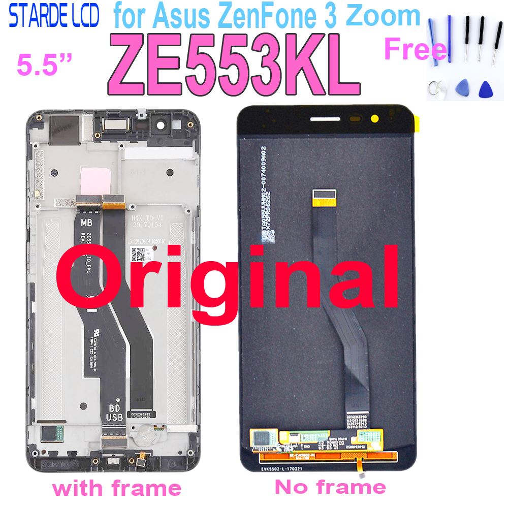 Original New LCD For ASUS Zenfone 3 Zoom ZE553KL Z01HDA LCD Display Touch Screen Digitizer Amoled 5.5