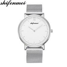 Shifenmei Women Watch Fashion Sport Watches Ladies Stainless Steel Mesh Waterproof Quartz Casual Wristwatch Relogio Feminino