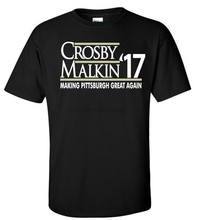 Sidney Crosby Evgeni Malkin Pittsburgh Penquins Crosby17 T-Shirt in jersey Camicia(China)