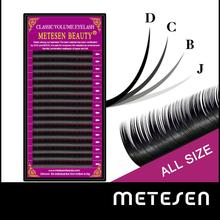 METESEN BEAUTY False Mink Eyelashes Matte Individual Eyelash Extension Volume Eye Lashes Extensions soft mink lashes genie shadow lashes individual lashes double curl and length faux mink fit for volume eyelash extension make up eye lashes
