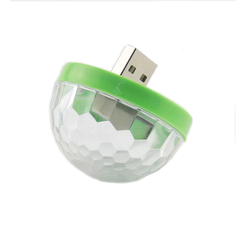 Mini Disco Lights LED Portable USB Stage Party Decoration DC 5V USB Magic Ball For Home Karaoke Colorful Effect DJ Lighting