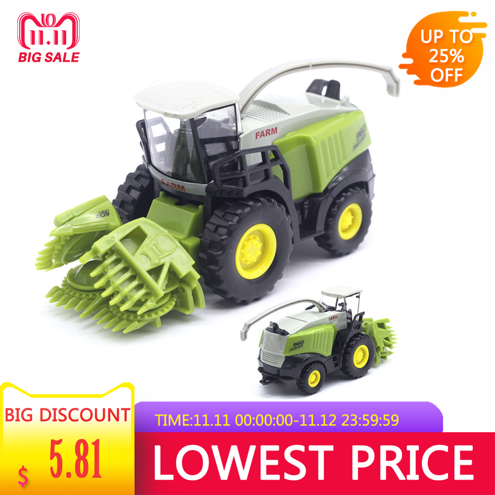 Children's Agricultural Harvester Alloy Car Model Toy Alloy Children Hobbies Toys Farm Tractor Model Vehicles Toy Gift