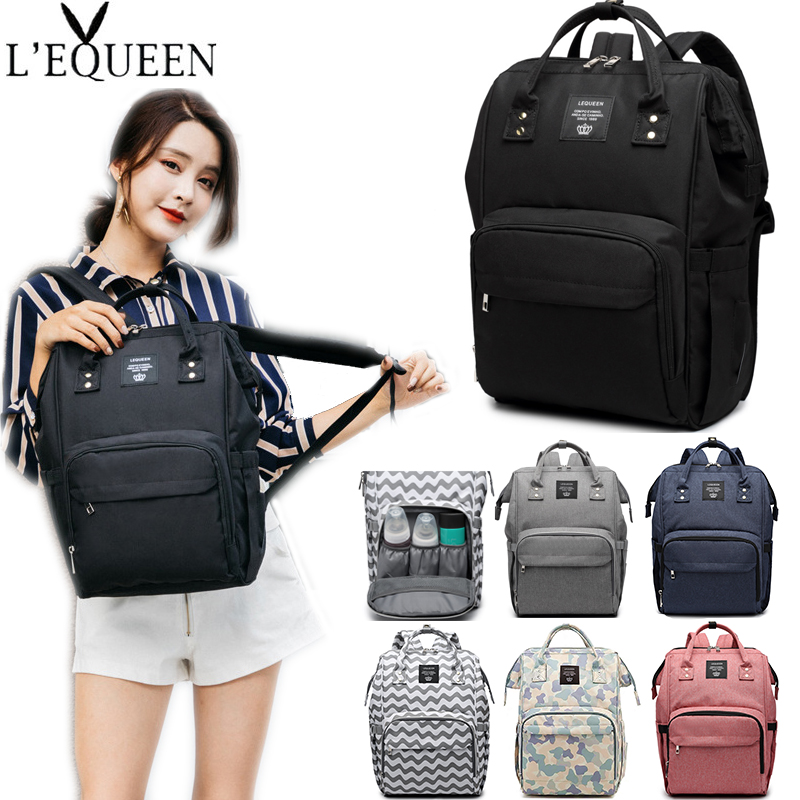 LEQUEEN Mummy Maternity Bag Nappy Nursing Bags Large Capacity Diaper Bag Fashion Women Travel Backpacks Baby Bag For Baby Care