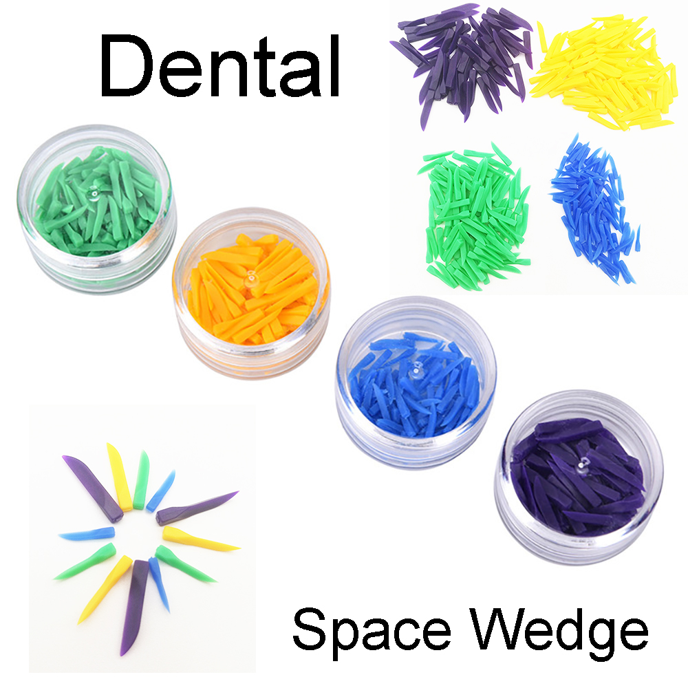 4boxes/set Disposable Dental Materials Wedges Plastic Dentistry Lab Instrument Dentist Tools Tooth Gap Wedge(China)