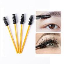 100Pcs Lash Brush Make Up Brushes Disposable Mascara Wands Applicator Eye lashes Cosmetic Brushes maquillaje Extension Tools