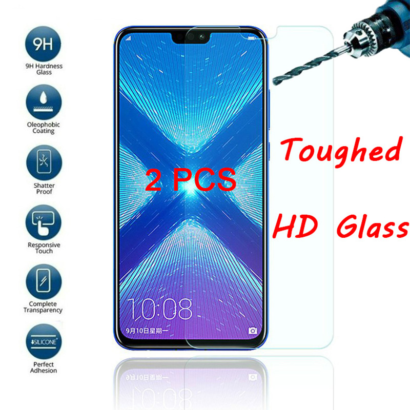 2 Pieces Tempered Glass For Honor 20 Pro 20Lite 10i 20i Clear Screen Protector Protective Film For Huawei Honor 10 Lite 8 9 Pro