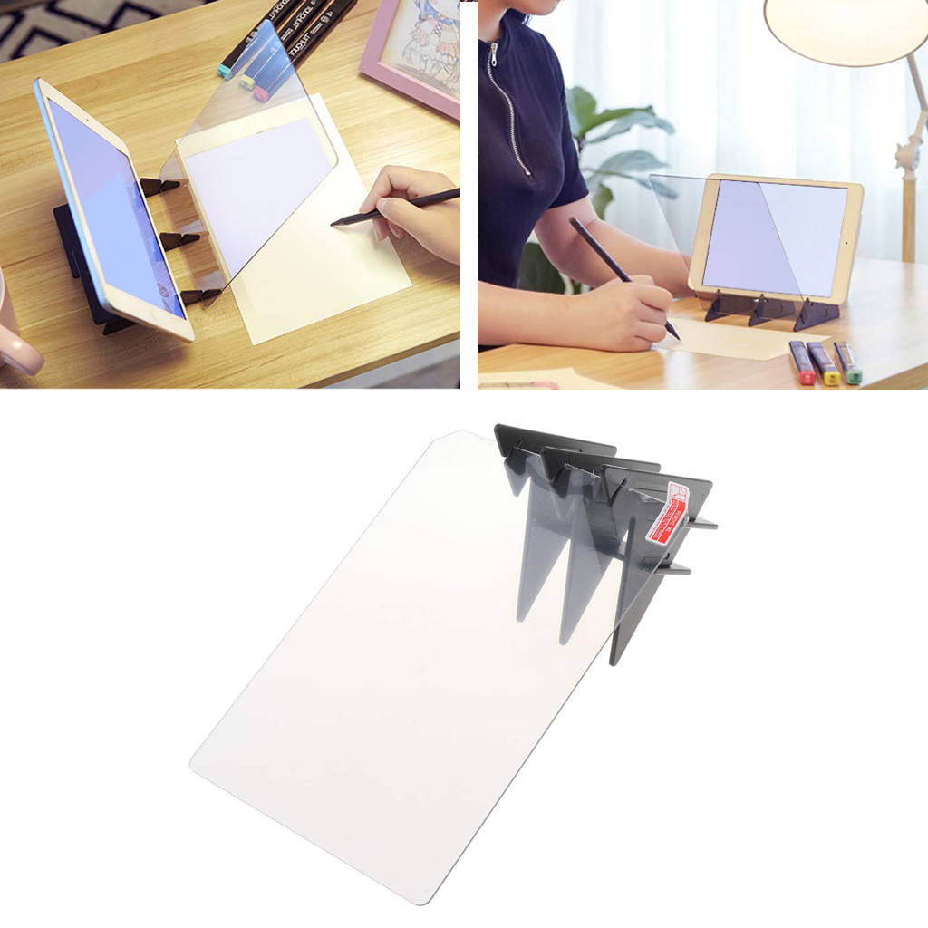 Kids LED Projection Optical Drawing Board Projector Painting Tracing Board Sketch Specular Reflection Dimming Bracket Holder #10