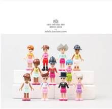 12 pçs doce princesa seecrets pp menina jogar brinquedos, polly pocket blocks menina presente de aniversário do bebê