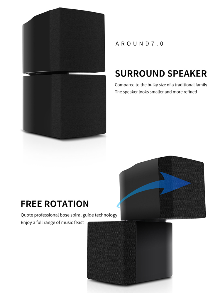 TKL 7.1 Channels Home Theater System USB Bluetooth 3D surround sound Subwoofer Speaker System 2