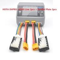 HOTA D6 D6PRO + Balanced Charger Extension Line XT60 T Plug Charger AC/DC AC 200W DC 650W 15A Lipo LiIon NiMH Battery wit