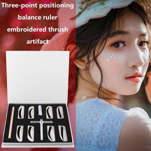 Three-point Positioning Balance Eyebrows Eyebrow Artifact Eyebrow Stickers Eyebrow Ruler Tattoo Supplies Tool 2