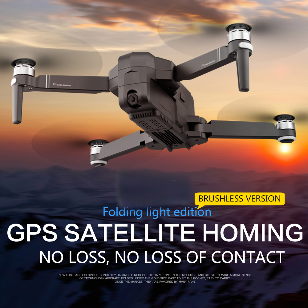 OTPRO F1 GPS Drone Mit Wifi FPV 1080P Kamera Bürstenlosen Quadcopter 25 minuten Flugzeit Gesture Control Faltbare Eders RC drohnen