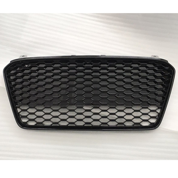 R8 RS Style ABS Black Car Front Bumper Honeycomb Mesh Grill Grille for Audi R8 2013-2016