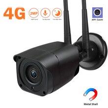 3G 4G بطاقة SIM كاميرا 1080P HD الأشعة تحت الحمراء للرؤية الليلية في الهواء الطلق كاميرا مصغرة واي فاي اللاسلكية CCTV الأمن P2P Onvif CamHi