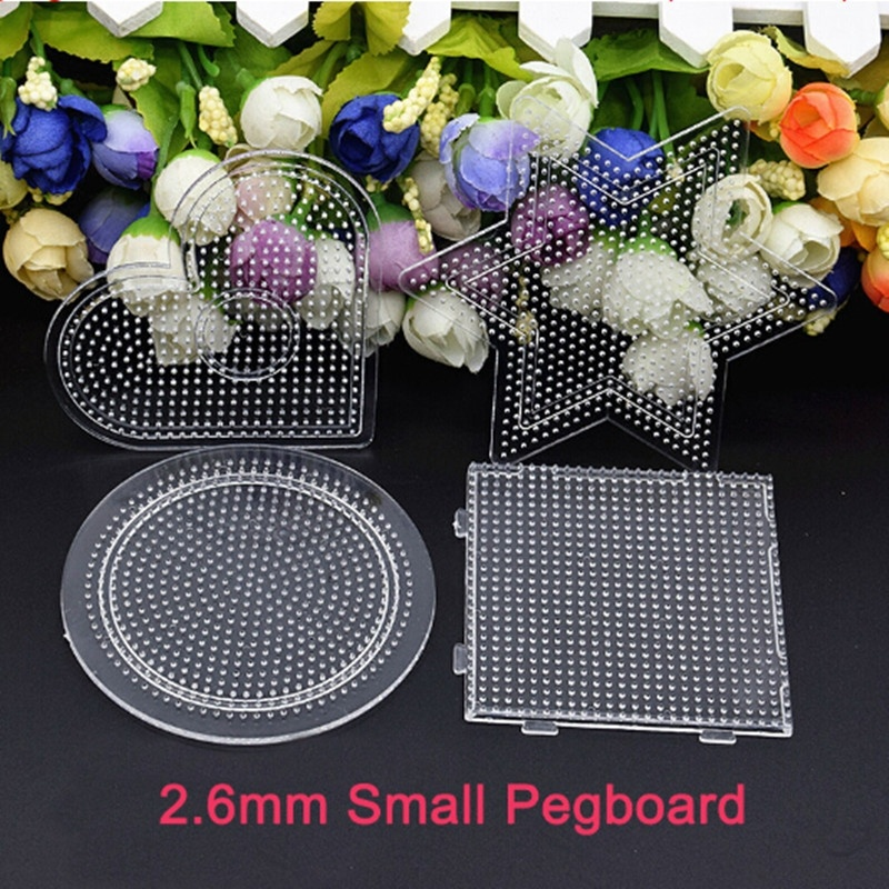 2.6mm 4Pcs/lot Hama Beads For Kids Craft Fuse Beads Puzzle Pegboards Patterns  DIY Template 3d Puzzle