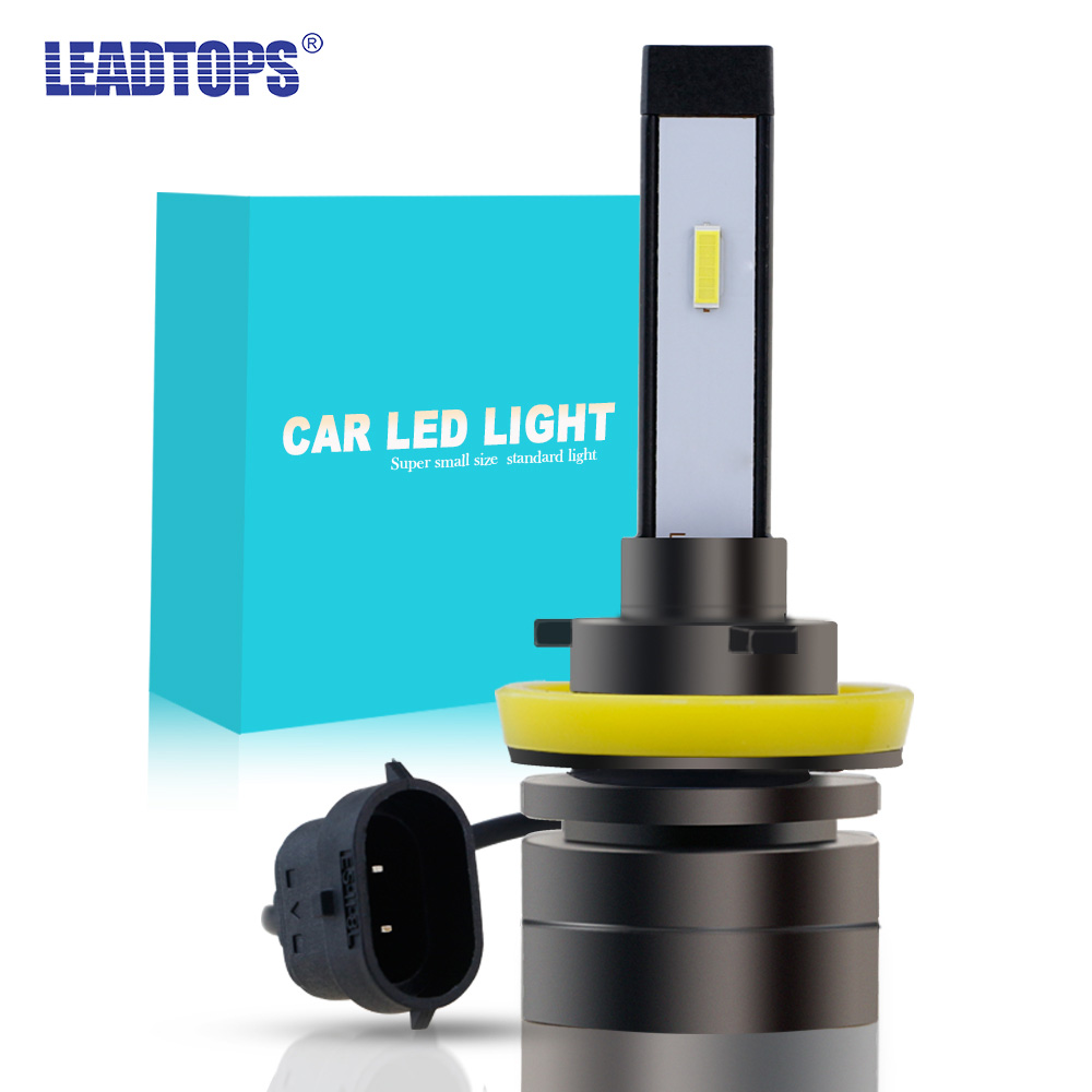 1Piece H4 H7 HB4 H11 HB3 H1 Car <font><b>LED</b></font> Headlight <font><b>Bulbs</b></font> 60W 9005 H8 H27 <font><b>H3</b></font> 9006 5202 CSP Super Mini Fog Light Headlamp 12V 8000LM image
